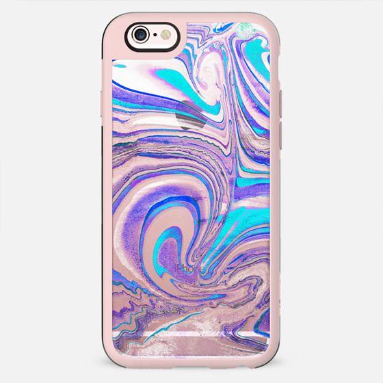 Blue purple transparent marble paint - New Standard Case