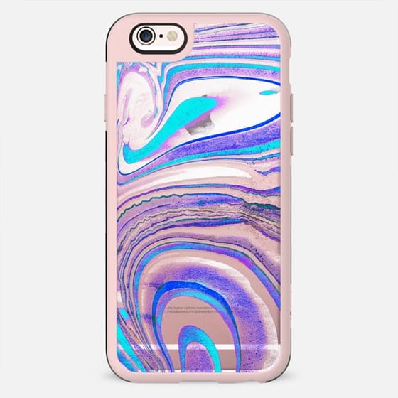 Blue purple transparent marble lines - New Standard Case