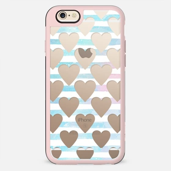 Hearts and blue stripes clear - New Standard Case