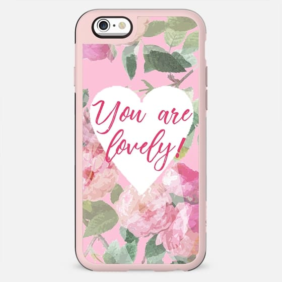 You are lovely on pink roses background - New Standard Case