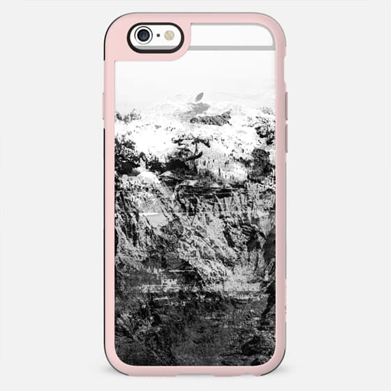 Mountain rock close-up black and white transparent - New Standard Case