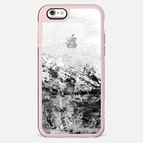 Mountain rock black and white transparent - New Standard Case