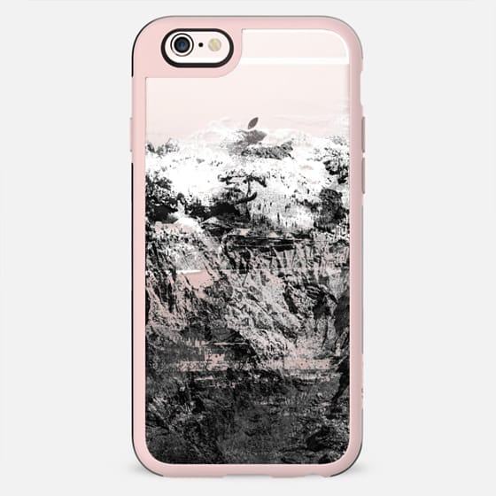 Black and white mountain landscape transparent - New Standard Case