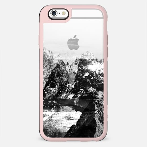 Black and white mountain landscape transparent - New Standard Case
