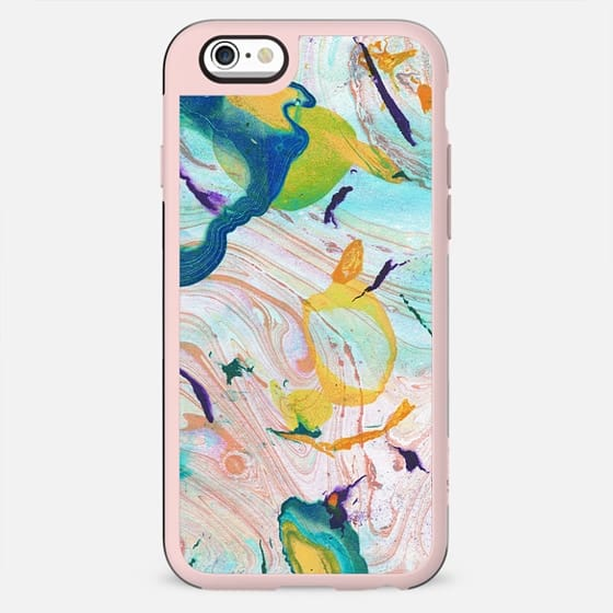 Colorful abstract painted liquid marble