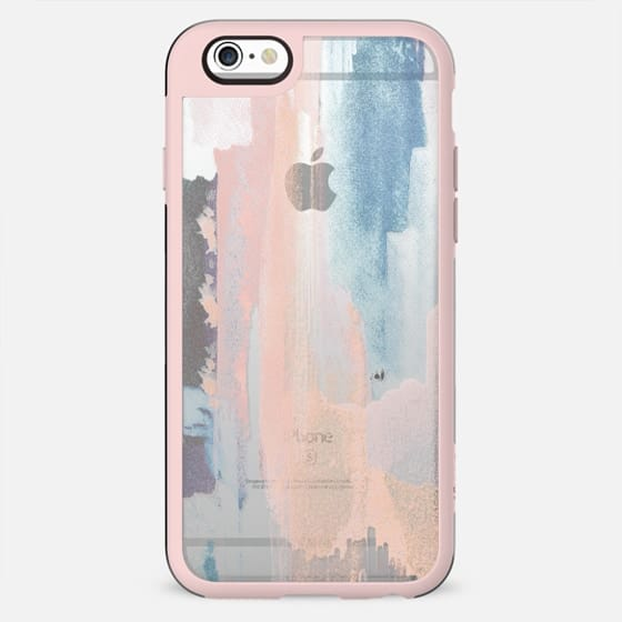 Abstract pastel painted brushes transparent - New Standard Case