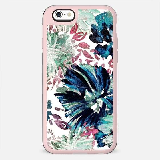 Pastel green tropical painted flowers - New Standard Case