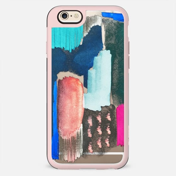 Abstract colorful clear case painting - New Standard Case