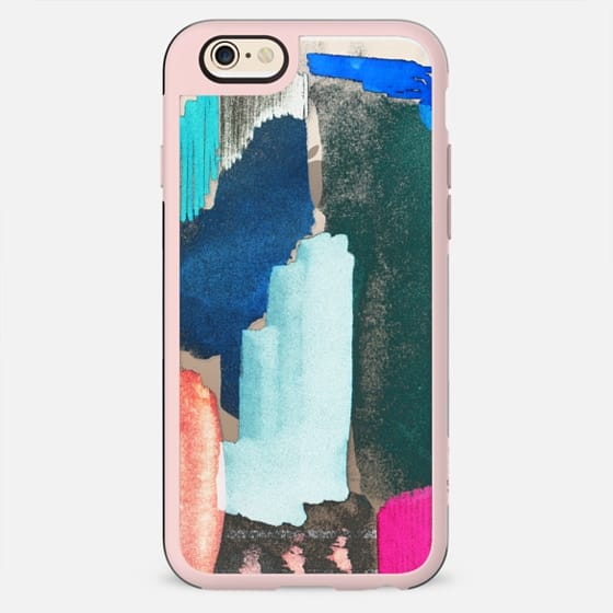 Abstract painted colorful brushstrokes clear - New Standard Case