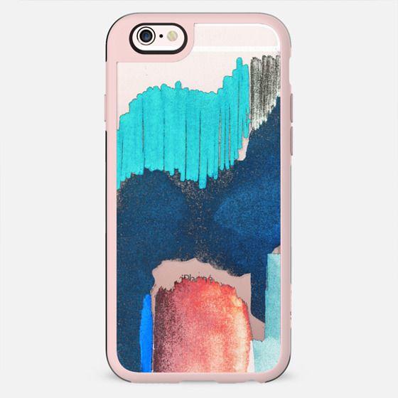 Abstract brushstroke doodles transparent - New Standard Case