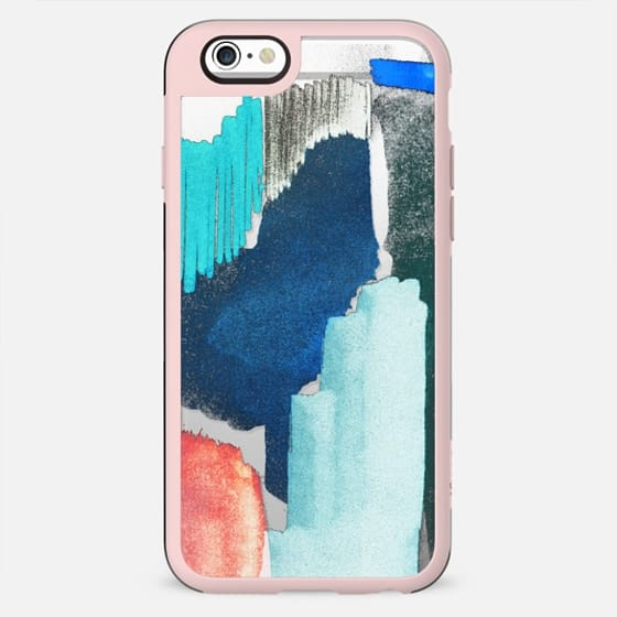 Abstract pastel brushstroke doodles transparent - New Standard Case