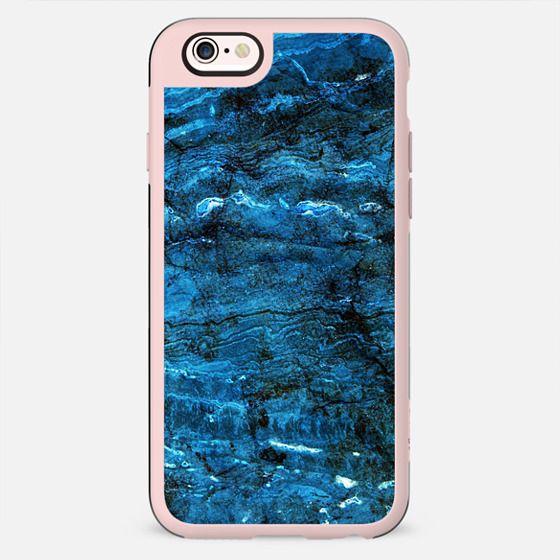 Minimal dark blue marble textured
