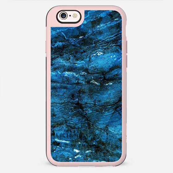 Minimal dark blue marble textured - New Standard Case