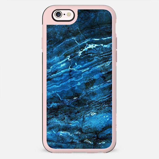 Minimal dark blue marble - New Standard Case