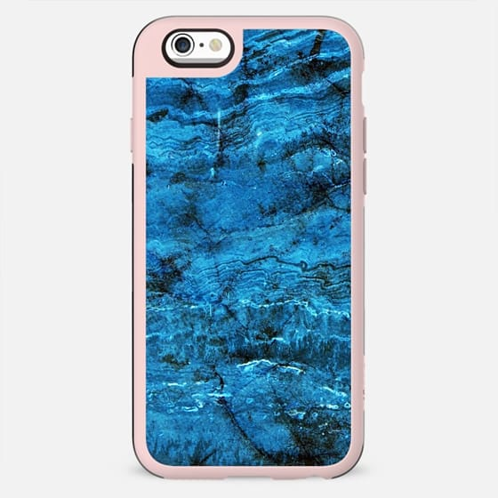 Minimal dark blue marble textured - New Standard Case