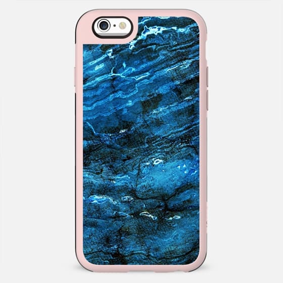 Minimal dark blue marble textured lines