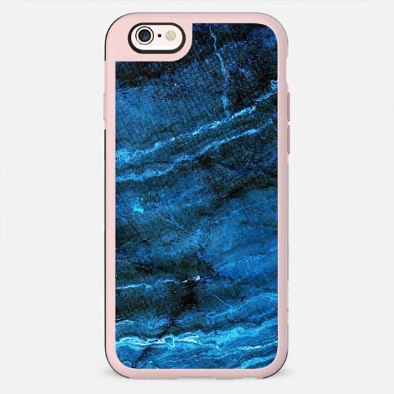 Minimal dark blue marble lines