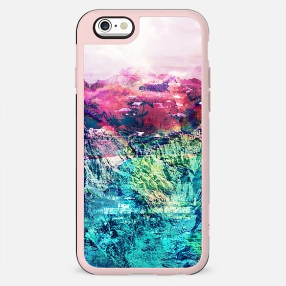 colorful vibrant mountain landscape gradient - New Standard Case