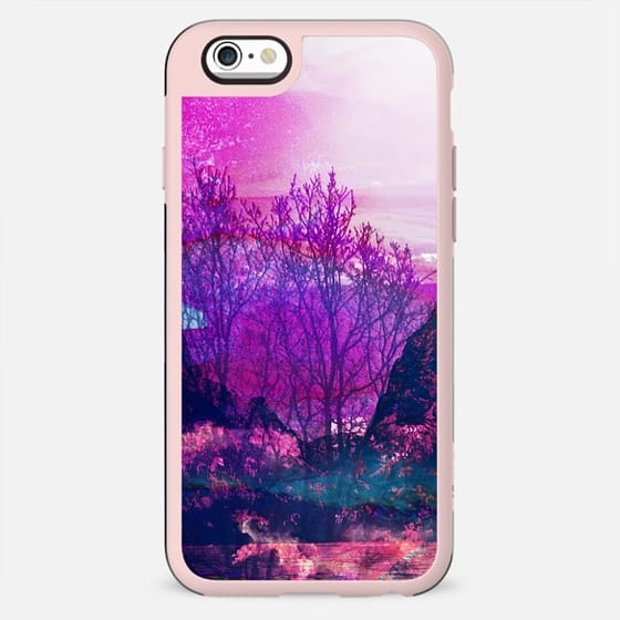 magenta painted tree forest - New Standard Case