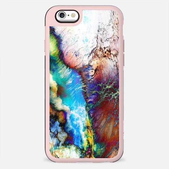 Abstract colorful marble clouds painting - New Standard Case