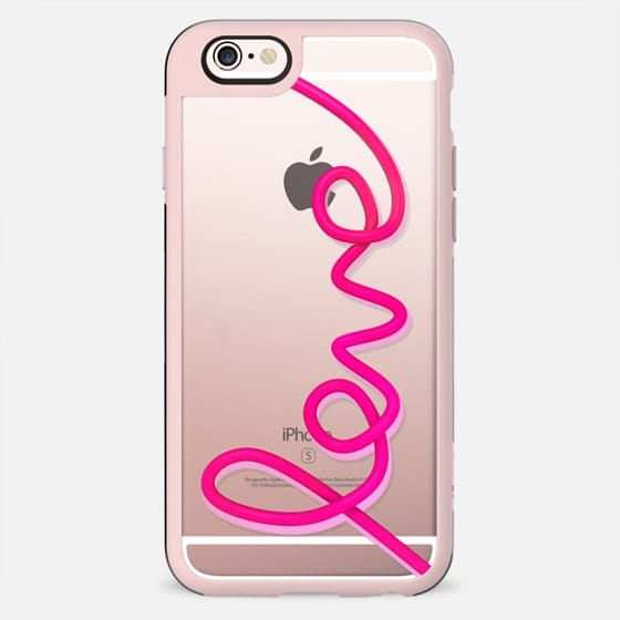 Love neon pink sign clear