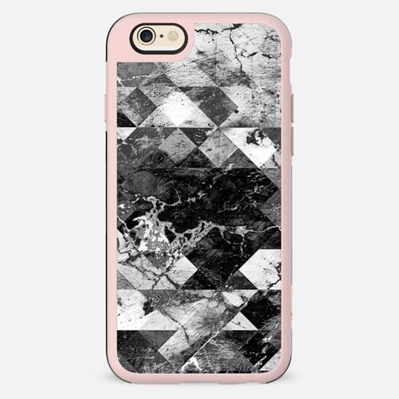 Marble cracked squares black and white - New Standard Case