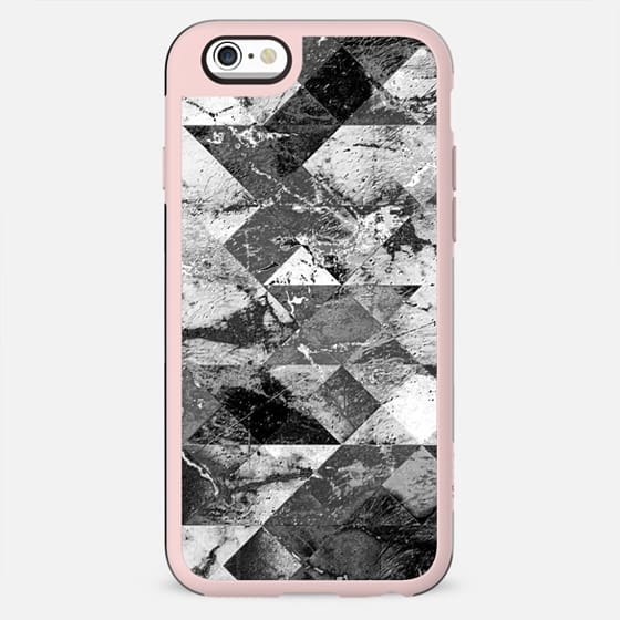 Marble cracked squares wall black and white - New Standard Case