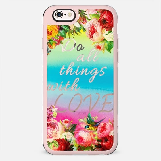 Do all things with love flowers and watercolor gradient - New Standard Case
