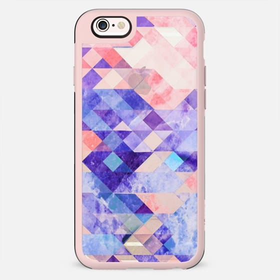 Transparent colorful marble triangles and squares - New Standard Case