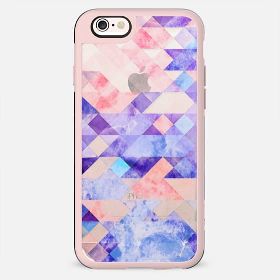 Transparent colorful marble triangles and squares