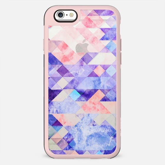 Geometric colorful marble collage - New Standard Case