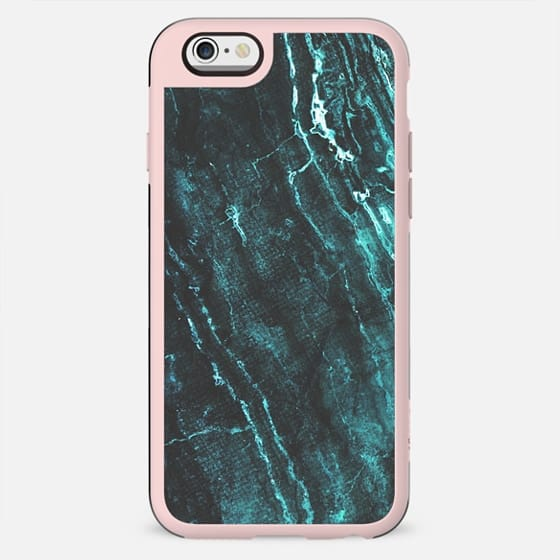 Turquoise dark marble lines - New Standard Case
