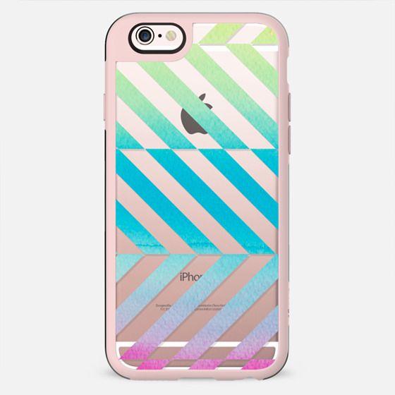 Watercolor stripes clear case dynamic minimal - New Standard Case