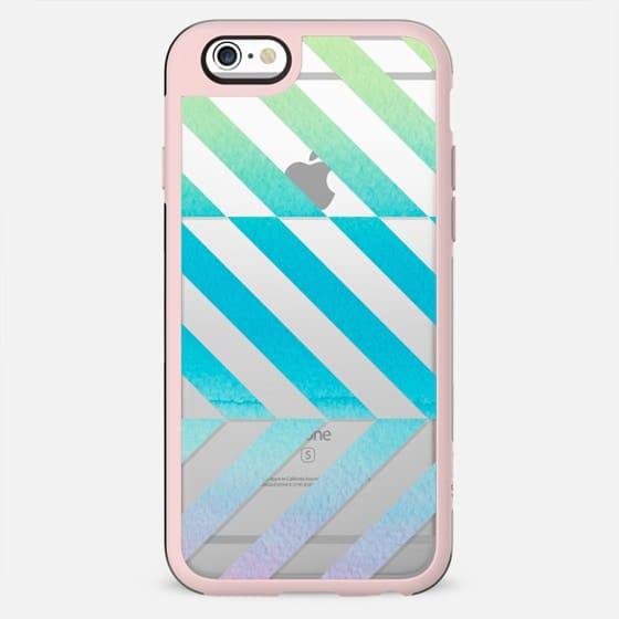 Watercolor stripes clear case dynamic minimal - New Standard Case