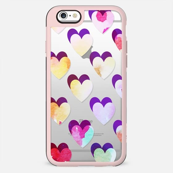 colorful watercolor hearts pattern - New Standard Case