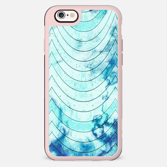 Blue marble geometric waves pattern - New Standard Case