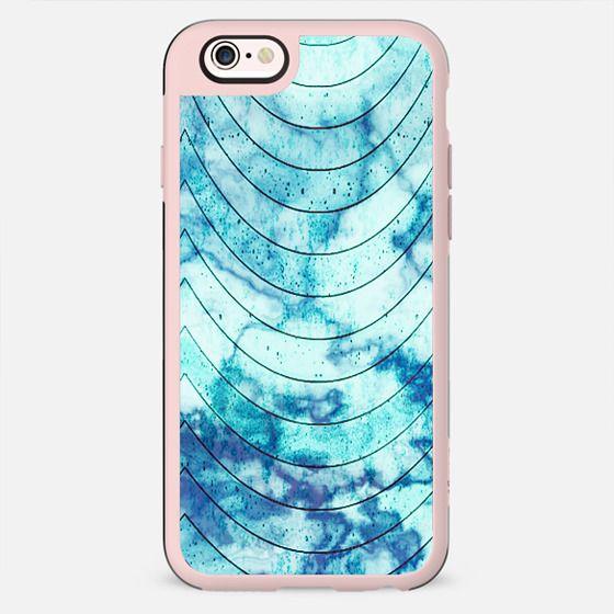 Geometric blue marble stripes - New Standard Case