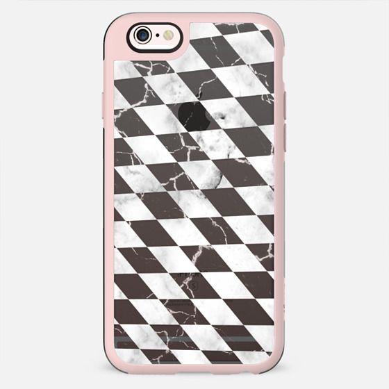 Monochrome marble checks pattern transparent - New Standard Case