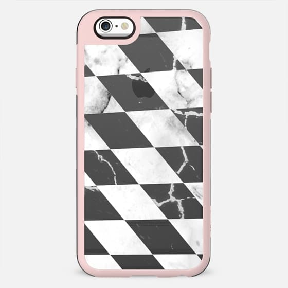 Transparent black and white marble checks - New Standard Case