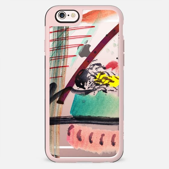 Quick watercolor abstract doodles clear - New Standard Case
