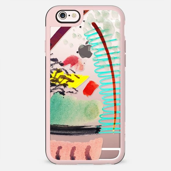 Quick watercolor abstract colorful doodles clear - New Standard Case