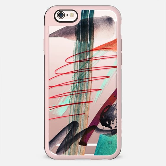 Quick watercolor abstract doodles modern art - New Standard Case