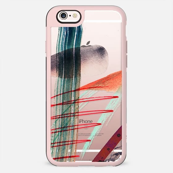 Quick watercolor abstract doodles clear case - New Standard Case