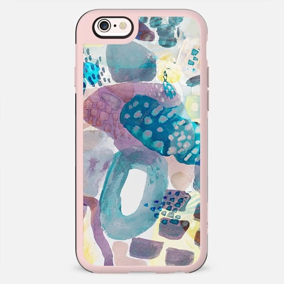 Abstract watercolor painting dots and doodles - New Standard Case