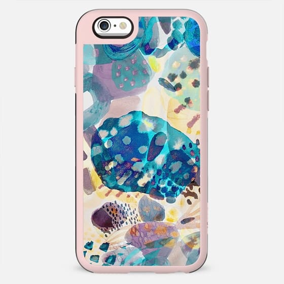 Abstract watercolor paint dots and doodles - New Standard Case