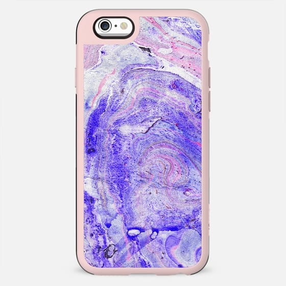 Blue pink grunge painted marble