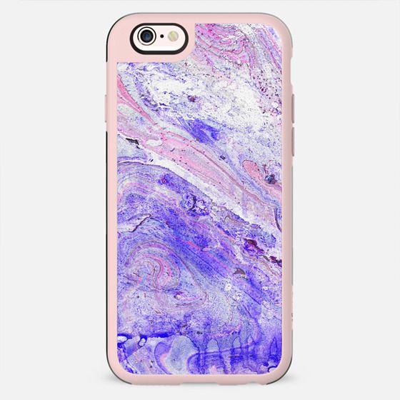 purple blue watercolor marble - New Standard Case