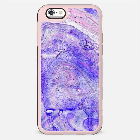 purple blue watercolor marble - New Standard Case