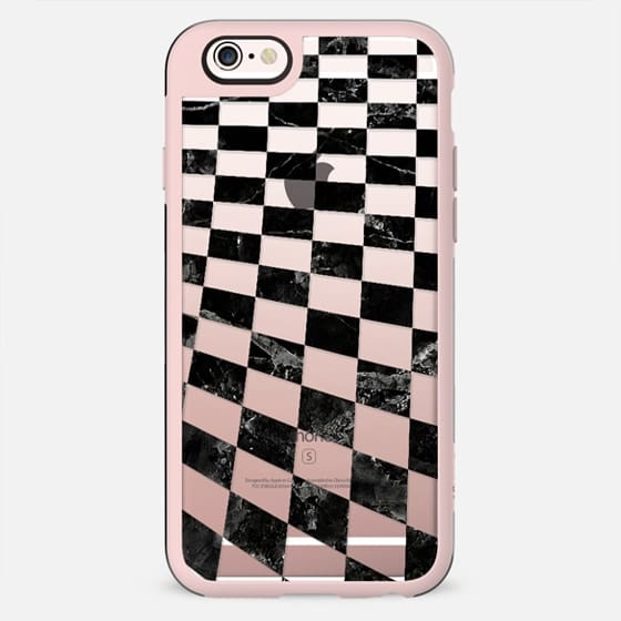 Black marble check pattern