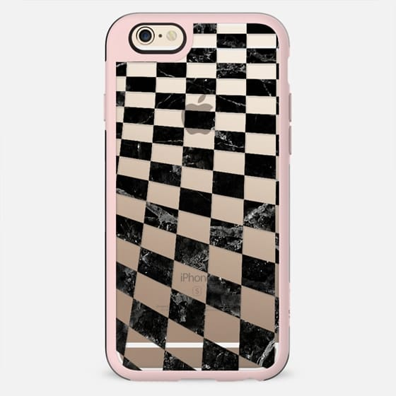 Black and white marble check pattern
